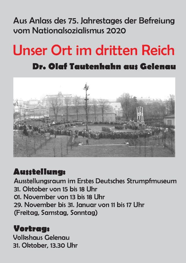 Ausstellung - Unser Ort im Dritten Reich - entfällt