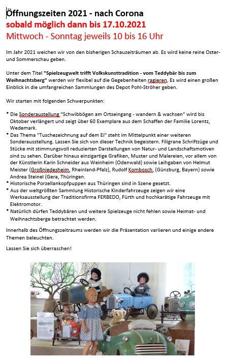Osterschau - Fr./Sa./So. - entfällt